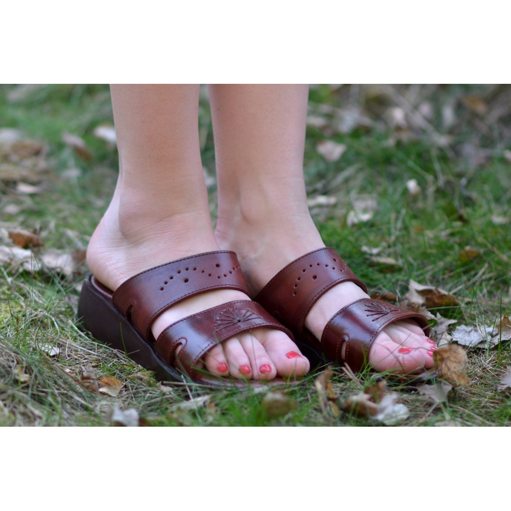 419a73bb8 Women s Leather sandals Maatkare on wedge - Faraon-sandals.cz