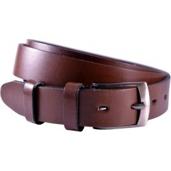 Leather belt without pattern, width 3 cm