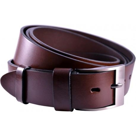 Leather belt without pattern, width 4 cm