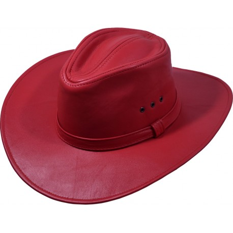 Pánský kožený klobouk 036