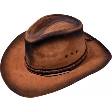 Pánský kožený klobouk 030