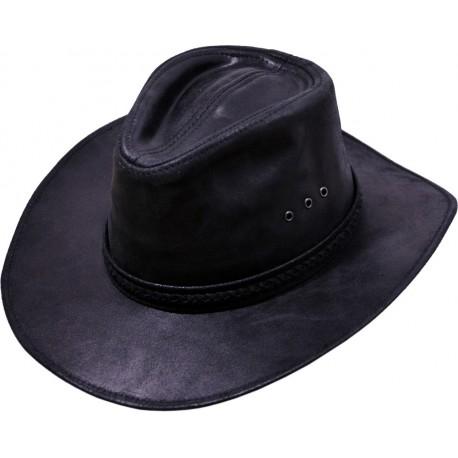 Pánský kožený klobouk 032