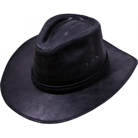 Pánsky kožený klobúk 032
