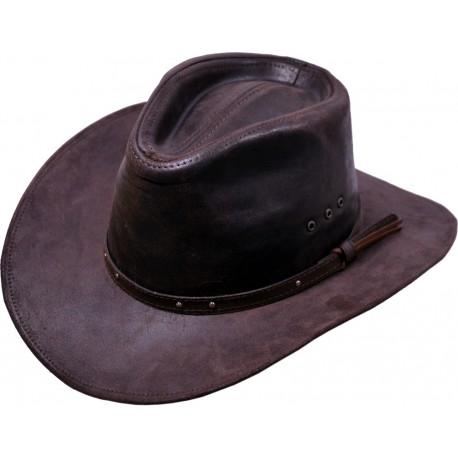 Pánský kožený klobouk 033