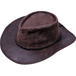 Pánský kožený klobouk 034