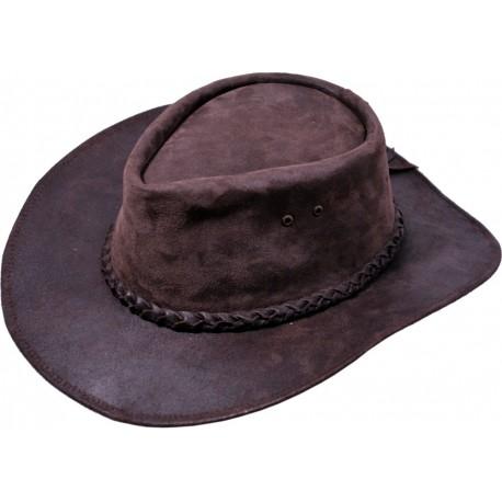 Kožený klobúk 034