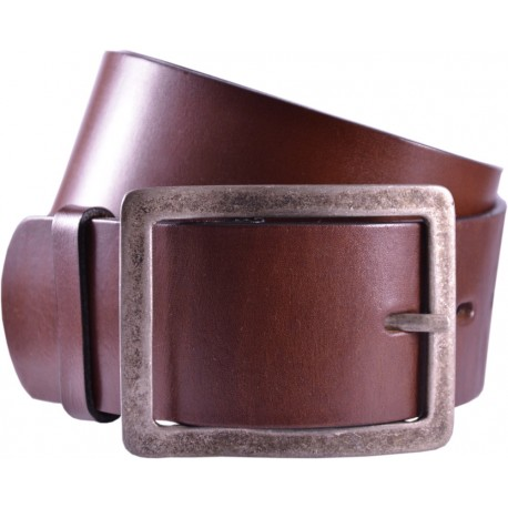 Leather belt without pattern, width 5 cm
