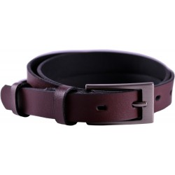 Leather belt without pattern, width 2 cm