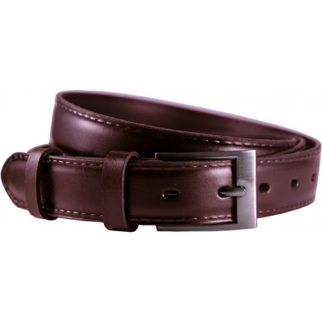 Leather belt embossed longitudinal pattern, width 3 cm