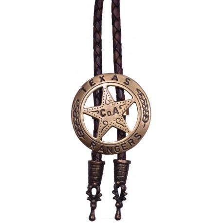 Westliche Cowboy-Krawatte war Texas Ranger, Messingfarbe