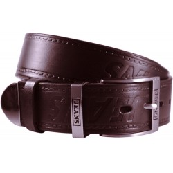 Leather belt wide with metal ending - 42/40 - 40 mm