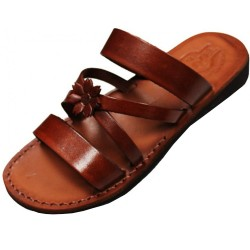 Women's leather slippers Sanacht