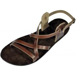 Unisex kožené barefoot sandále Pepi