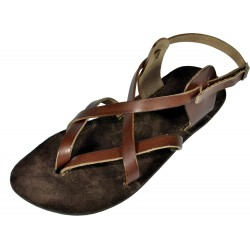 Unisex leather barefoot sandals Peribsen