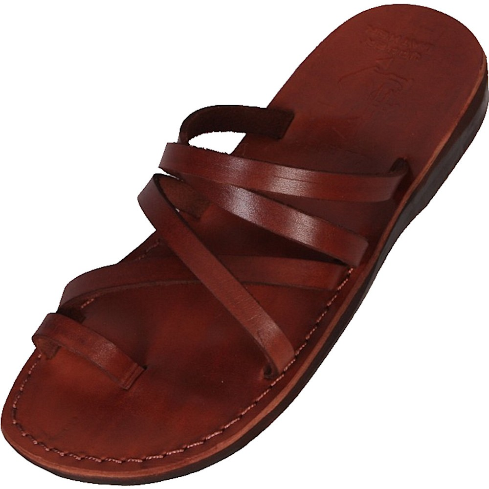32e961a4f6ae78 Unisex Lederpantoffeln Ahmose - Faraon-sandals.cz