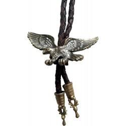Westliche Cowboy-Krawatte bolo Adler, Messingfarbe