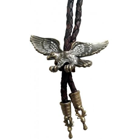 Western cowboy tie Eagle, brass color