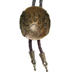 Westliche Cowboy-Krawatte bolo Tatue, Messingfarbe