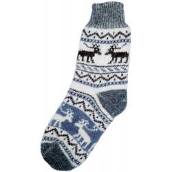 Vlnené ponožky motív soba 1