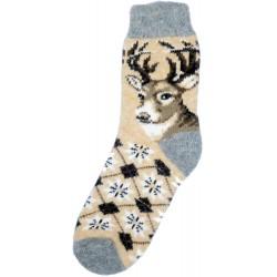 Vlněné ponožky motiv jelena 1