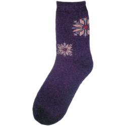 Vlnené ponožky motív vločka 1