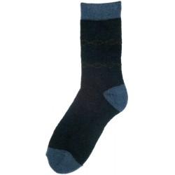Wollsocken blau-grau