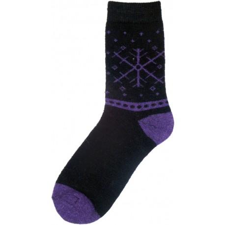 Vlněné ponožky motiv vločka 2