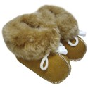 Children's brown leather boots