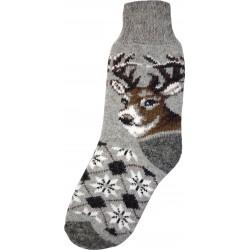 Vlněné ponožky motiv jelena 2