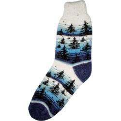 Vlnené ponožky motív stromov