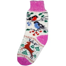 Vlněné ponožky motiv ptáků 4