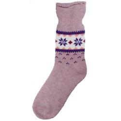 Vlněné ponožky motiv vločka 4