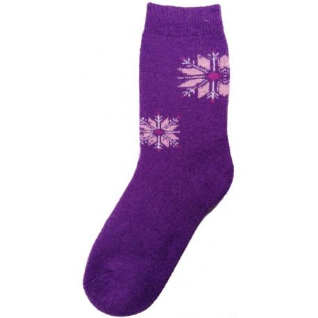 Vlněné ponožky motiv vločka 5