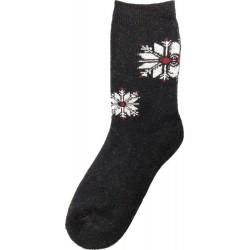 Vlněné ponožky motiv vločka 6