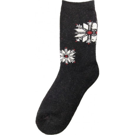 Wolle Socken Thema Schneeflocke 6