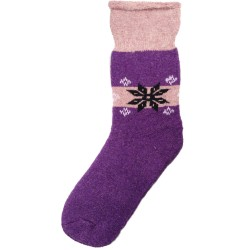 Vlněné ponožky motiv vločka 8