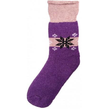 Vlnené ponožky motív vločka 8