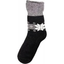 Vlněné ponožky motiv vločka 9