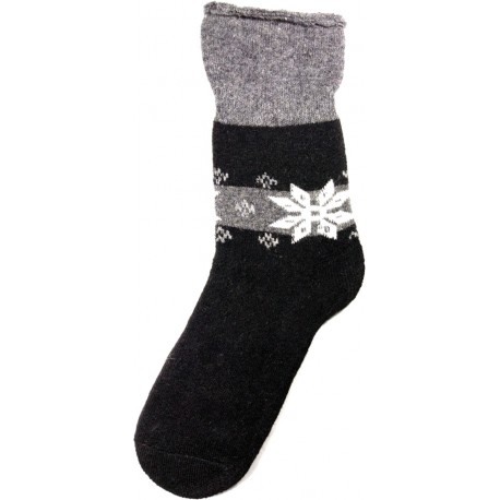 Wolle Socken Thema Schneeflocke 9