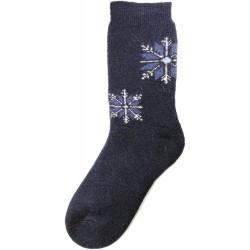 Vlněné ponožky motiv vločka 10