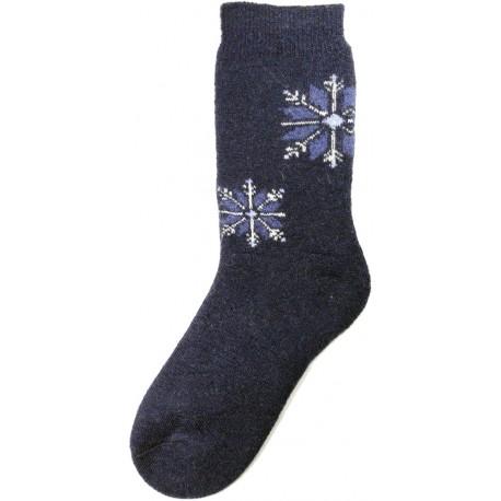 Wolle Socken Thema Schneeflocke 10