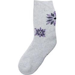 Vlněné ponožky motiv vločka 12