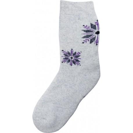 Wolle Socken Thema Schneeflocke 12