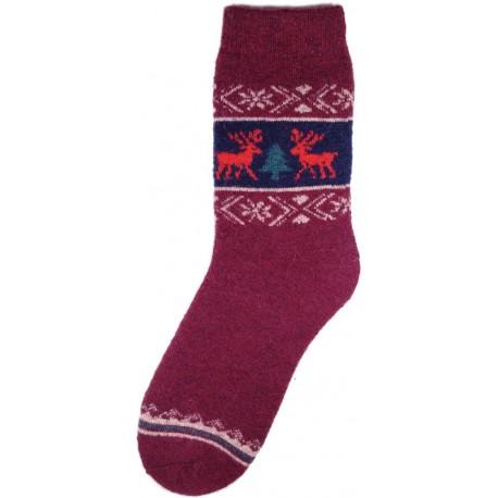 Vlněné ponožky motiv soba 3