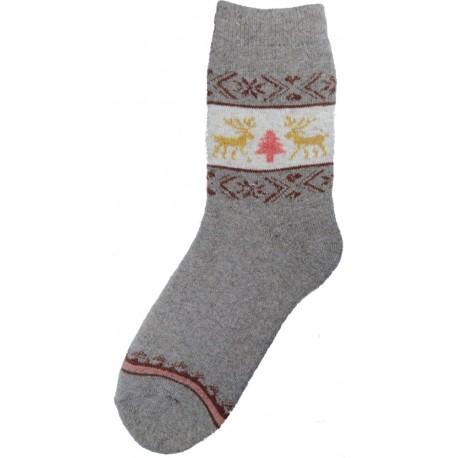 Vlnené ponožky motív soba 4