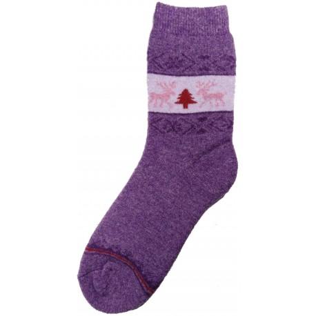 Vlněné ponožky motiv soba 5