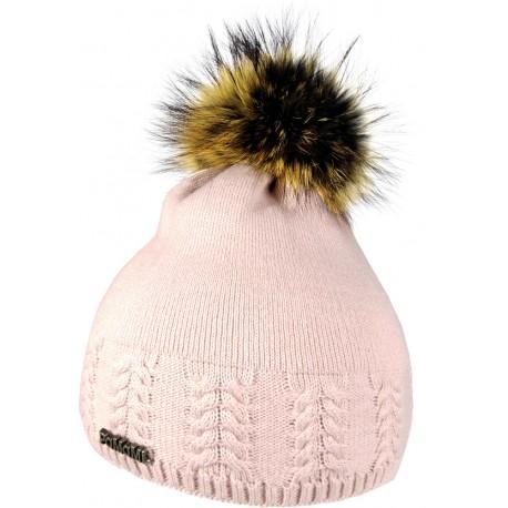 Winter stricken Wollmütze pink 1