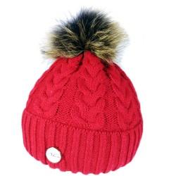 Winter gestrickte Wollmütze rot