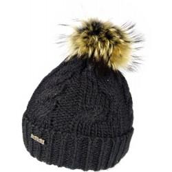 Zimní pletená vlněná čepice černá