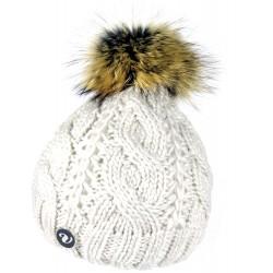 Zimní pletená vlněná čepice šedá 2